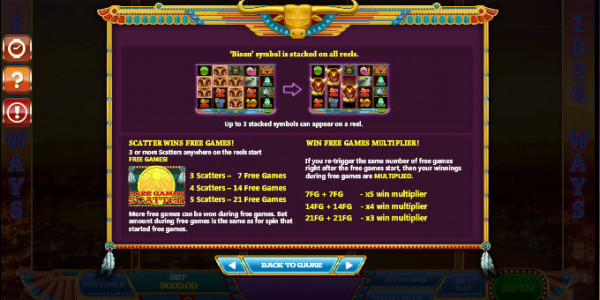 By the Rivers of Buffalo Video Slots by GamesOS Gaming MCPcom pay2