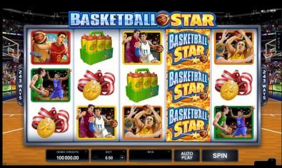 Basketball Star Video slots by Microgaming MCPcom