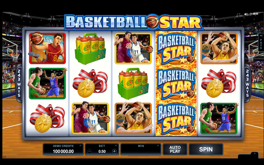 Basketball Star Video slots by Microgaming MCPcom