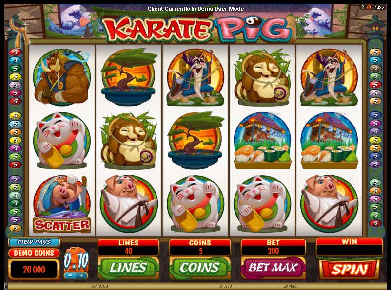 Karate Pig MCPcom Microgaming