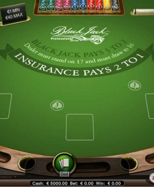 Blackjack Professional Series MCPcom NetEnt