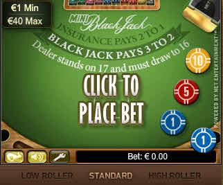 Mini Blackjack MCPcom NetEnt
