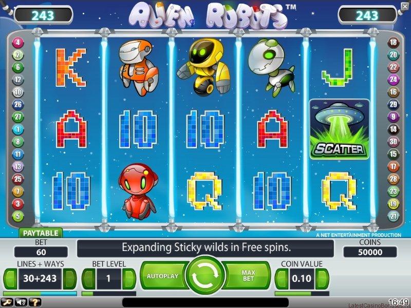Alien robots screenshot main game
