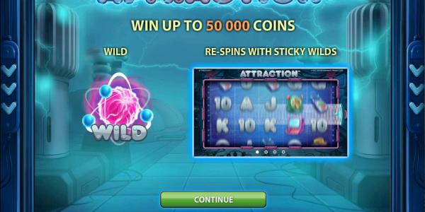 Screenshot Attraction splashscreen