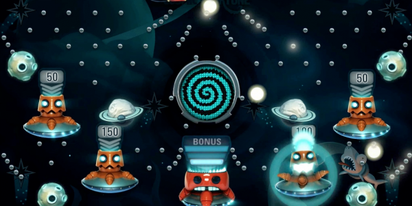 Screenshot Cosmic fortune free falls bonus game